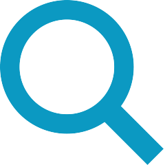Magnifying glass inspection icon