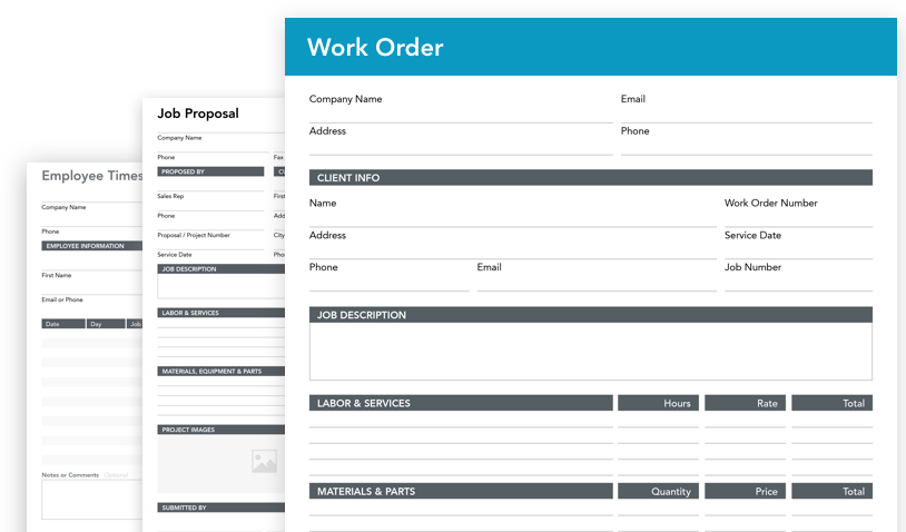 Use automated calculations to calculate project proposals in your digital workorder
